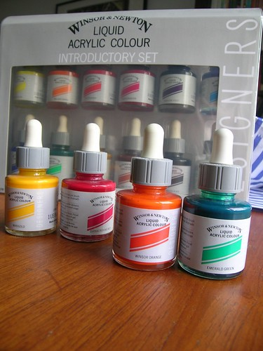 New acrylic inks.