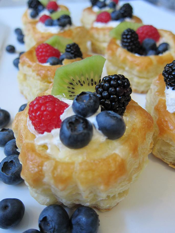 puff pastry fruit tart fruit water
