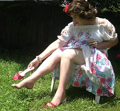 Me, Summer nature flower woman! (Sugarbarre2) Tags: california old girls red portrait people woman usa sun cute green feet nature girl beautiful fun photo nikon toes pretty arch arches babe mexican mature barefoot wife heels 365days
