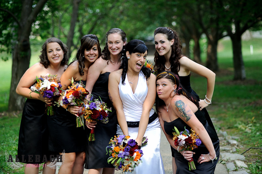 tattooed bridesmaids and bride