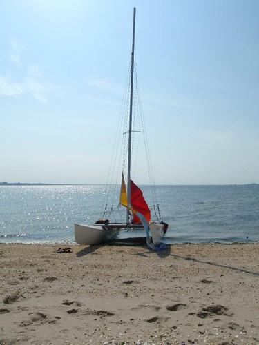 sail boat on beach