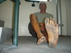 Barefoot in parking garage (nwdcguy1) Tags: male barefoot soles dirtyfeet filthyfeet feet barefooted toughfeet dirtymalefeet