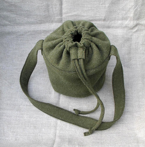 z wool (army blanket) lunch tote