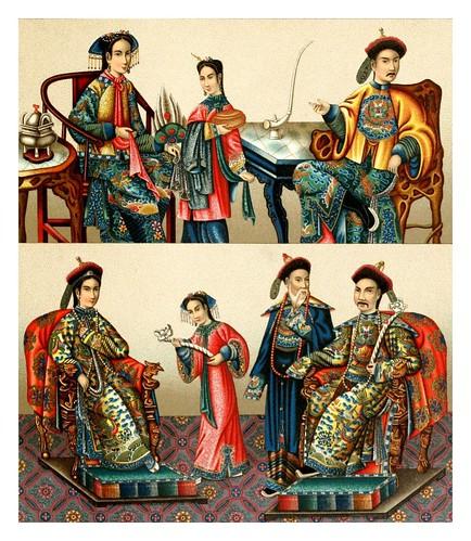 011-Familia imperial china -Geschichte des kostüms in chronologischer entwicklung 1888- A. Racinet