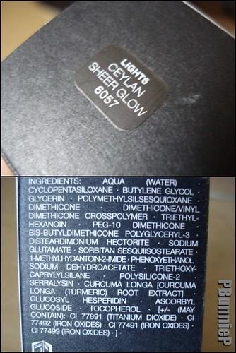 NARS SheerGlow Foundation-ingredients
