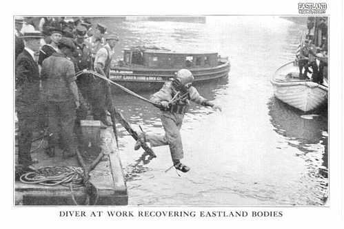 Diving to recover the bodies