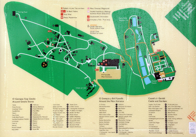 St Fagans National History Museum map