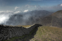 Along the Mourne Wall (Glenn Cartmill) Tags: uk ireland wallpaper irish mountain mountains nature newcastle scenery unitedkingdom background glenn september northernireland desktopwallpaper 2010 ulster desktopbackground 500d codown slievedonard cartmill windowsbackground picturesofireland glenncartmill