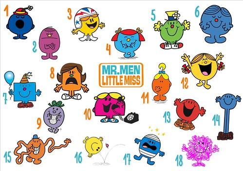 Mr  Men & Little Miss (w/ Pictures) Quiz - By pinkplumeria