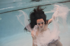Swim In The Smoke (Taylor Dawn Fortune) Tags: portrait girl hair underwater dress floating tulle