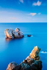 Porta no Mar (David GP) Tags: sunset sea mar rocks tie lee polarizer rocas marea postadesol rochas cantbrico liencres cantabric heliopan arnia singhray cantbrico leeholder