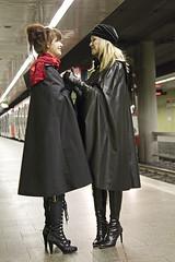 raincoated girls (mobolo14) Tags: girls rubber raincoat mackintosh raincape sbr regenmode rainfashion regencapes