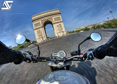 "An ""Englishwoman"" in Paris 2 (A.G. Photographe) Tags: street paris france english bar speed de drive team nikon driving ride arc triomphe joe harley fisheye riding biking triumph moto bmw motorcycle suzuki capitale nikkor ducati 16mm triple arcdetriomphe franais hdr parisian kawasaki englishman motard buell gsxr anto motocicleta vitesse fil gymkhana champslyses anglais xiii parisien joebarteam anglaise hdr1raw englishwoman d700 streettriple embarqu"