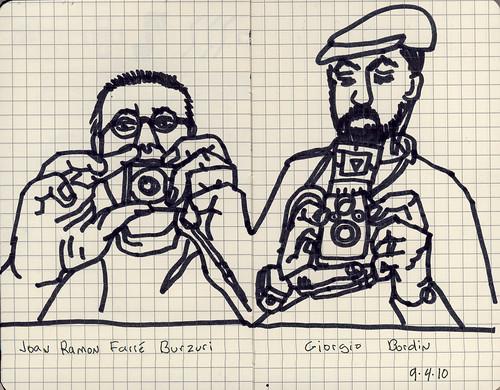 Spanish Artist  & Architect Joan Ramon Farré Burzuri & Italian Artist and Physician, Giorgio Bordin 2010.09.04