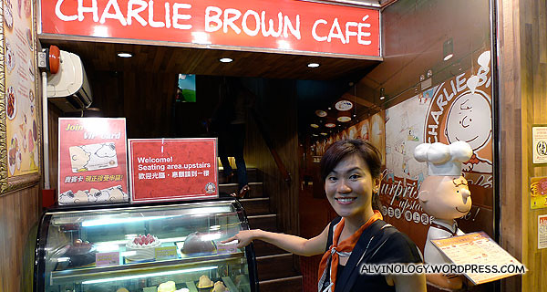 We chanced upon a Charlie Brown Cafe