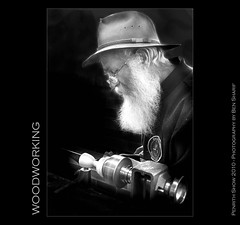Woodworking (CrazyNotion (wandering and wondering)) Tags: old portrait man beard australia nsw woodworking penrith bensharif