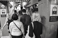 streetcars to harboufront and exhibition (​eyebex) Tags: street people blackandwhite bw toronto ontario subway t crowd tee 07 crowded uncool7