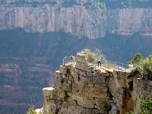 One of the many view points at the Grand Canyon North Rim Lodge