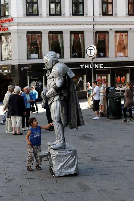 Human Statue, Karl Johan's Street, Oslo
