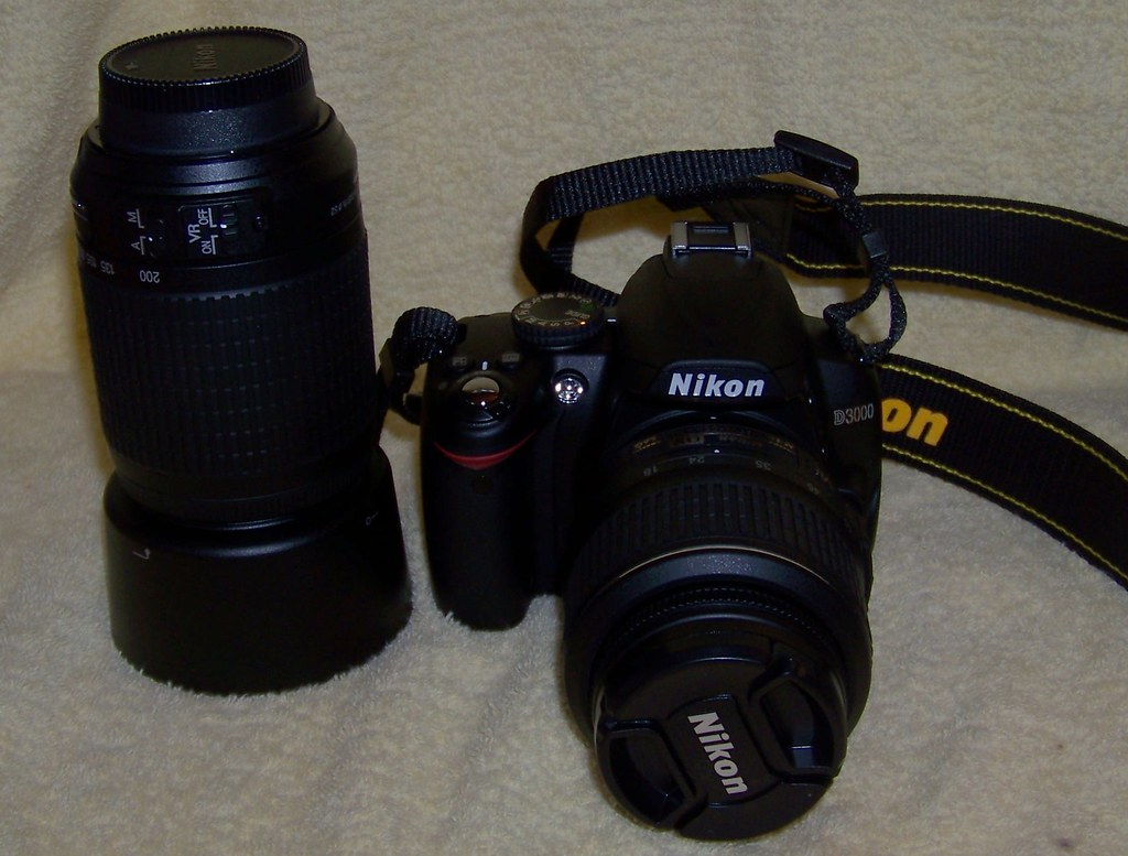 My new digital SLR camera and zoom lens