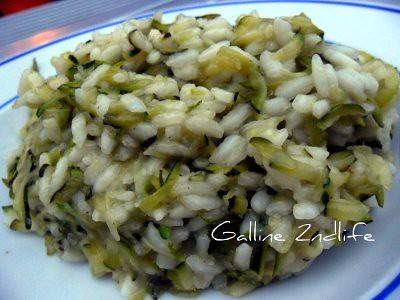riso e zucchine