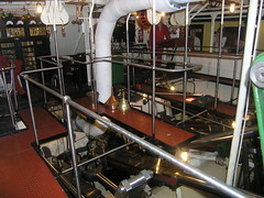 Gleaming engine room