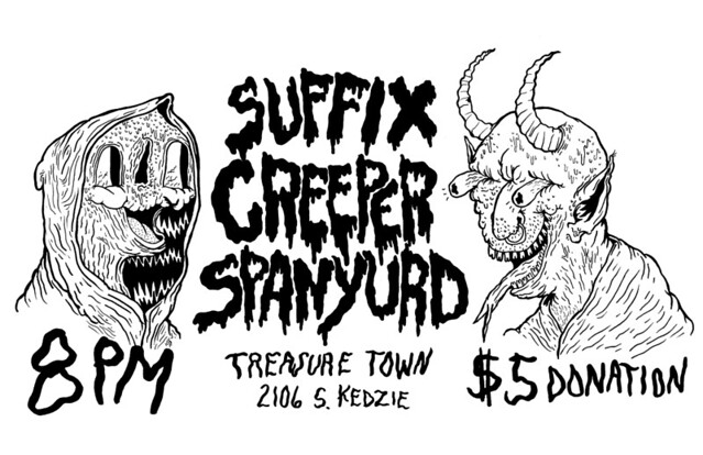 Spanyurd, Creeper, Suffix @ Treasure Town