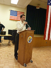 Gabe Zimmerman delivers a message from Congresswoman Giffords