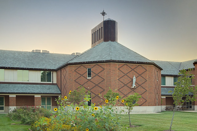 Christian Brothers College High School, in Town and Country, Missouri, USA - exterior back of chapel