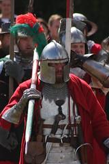 Onwards! (delta23lfb) Tags: hat uniform helmet medieval weapon knight armour reenactment reenactor livinghistory detling militaryodyssey