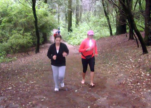 Corriendo del maratón con ganas de vivir