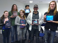 Music students with iPads