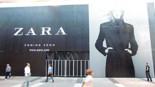 Un anuncio de Zara