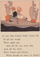 If All the World Were Apple Pie (katinthecupboard) Tags: primer rhymes mothergoose vintagechildrensbooks vintagechildrensillustrations maginelwrightenright vintagechildrensreaders enrightmaginelwright