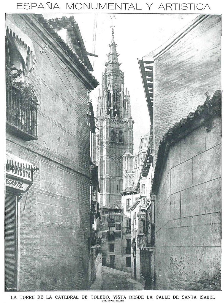 Calle de Santa Isabel en 1915.