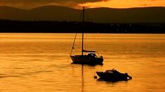 Calm Again (Barrie Caveman) Tags: sunset river boats scotland dusk scottish calm tidal boness firthofforth riverforth moorings centralscotland carriden borrowstounness fujifinepixs200exr carridenboatyard