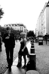 Paris Street (Duncan Cowles) Tags: longexposure paris flower church seine advertising eiffeltower bank coeur sacre september stgermain parisian 2010 30second inception rosswalker duncancowles catrionaurquhart