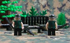 Brickarms Printed Camo - Woodland (Catsy [CC]) Tags: woodland lego colonial camo camouflage marines printed catsy brickarms flickr:user=catsy lego:scale=minifig
