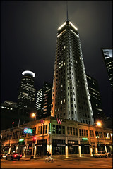 foshay tower minneapolis minnesota (Dan Anderson (dead camera, RIP)) Tags: city building tower art minnesota skyline architecture night skyscraper observation downtown minneapolis artdeco twincities mn whotel foshay mannys foshaytower keyscafe