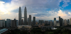 KL Panorama (One_Penny) Tags: park city blue sea sky panorama tower skyline architecture bar clouds skyscraper hotel asia asien southeastasia centre malaysia twintowers kualalumpur kl klcc petronastowers skybar tradershotel malaysien panoramafactory