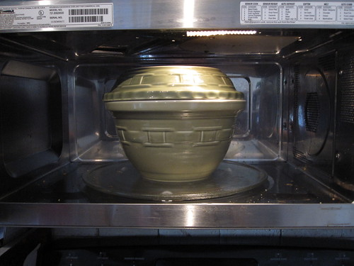 Stuffed Artichoke in the Microwave