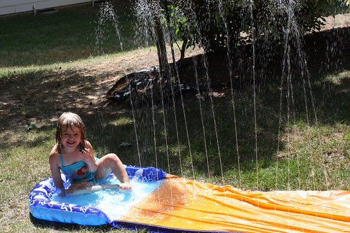 Loving the slip & slide in the backyard