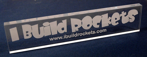 I Build Rockets - Engraved Plaque