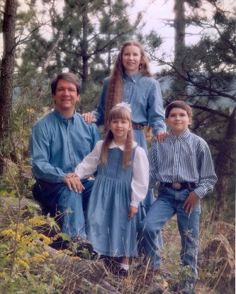 Terry, Deb, Christina (5), and Will (10) in the Black Hills where did some of our elementary homeschooling, 1995.