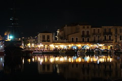 The restaurants at night (Steenjep) Tags: holiday night greece crete reflexions oldharbour rethymnon