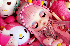 Pinkachu, Dreaming in Pink (Happily Candied) Tags: pink cute love doll hellokitty sanrio plushies kawaii blythe custom mlc sugarbunnies mymelody mylittlecandy pinkachu