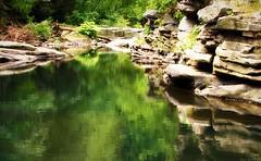 On Emerald Glass (REA_26) Tags: park summer water glass pool rocks pennsylvania hike pa emerald nayaug