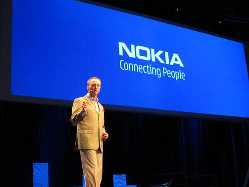 諾基亞市場執行副總裁Niklas Savander在倫敦舉行的Nokia World上發表智慧型手機策略