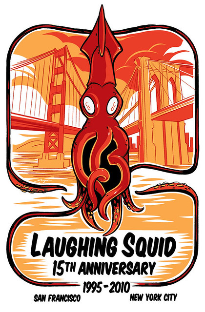 Laughing Squid 15th Anniversary Poster