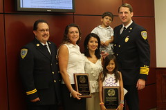 Fire Chief presents Citizen Award
